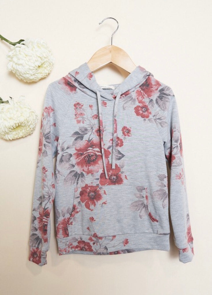 ~ For Keeps Too ~ floral hoodie