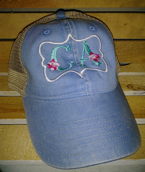 CALIFORNIA GIRLS - CA floral embroidered trucker hats