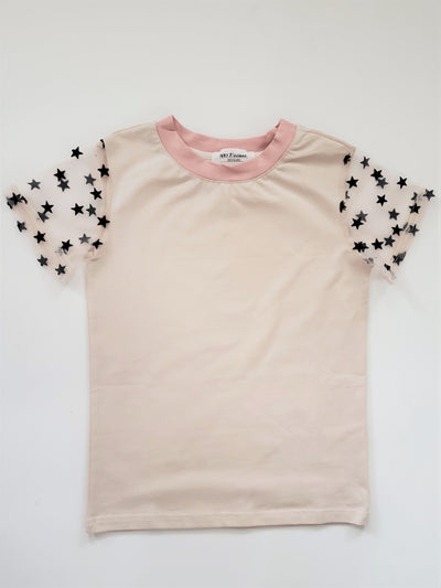 Star Sleeve Tee - Cream