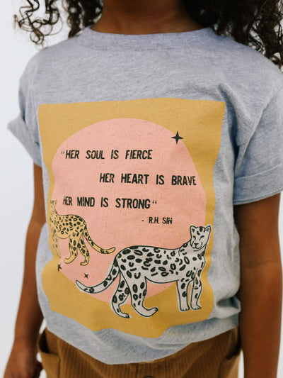 Distressed Leopard Tee - Pink