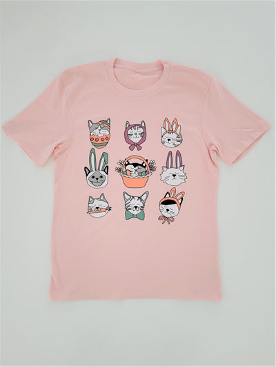 Adults Easter Cat Tee