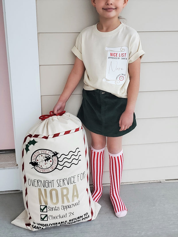 Custom Canvas Santa Sacks: Made To Order