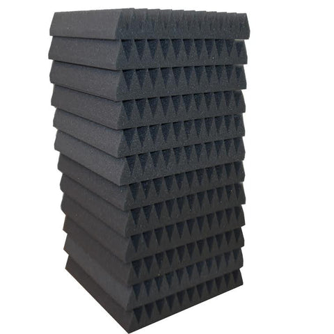 "Foamily 12 Pack Acoustic Wedge Studio Soundproofing Foam Wall Tiles 12"" X 12"" X 2"""