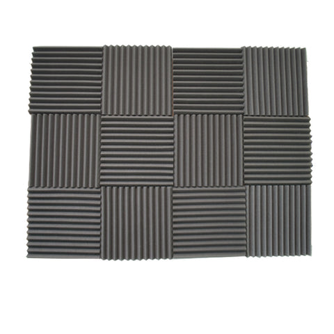 "Foamily 12 Pack Acoustic Wedge Studio Soundproofing Foam Wall Tiles 12"" X 12"" X 1"""