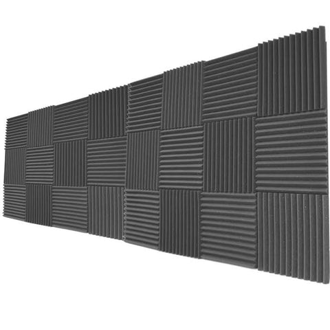 "Foamily 24 Pack Acoustic Wedge Studio Soundproofing Foam Wall Tiles 12"" X 12"" X 1"""