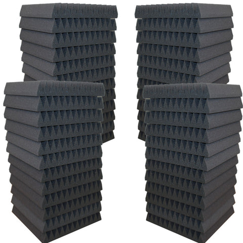 "Foamily 48 Pack Acoustic Wedge Studio Soundproofing Foam Wall Tiles 12"" X 12"" X 2"" (6 Teeth)"