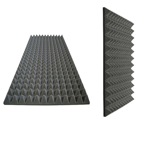 "Foamily Acoustic Foam Sound Absorption Pyramid Studio Treatment Wall Panel, 48"" x 24"" x 2"""