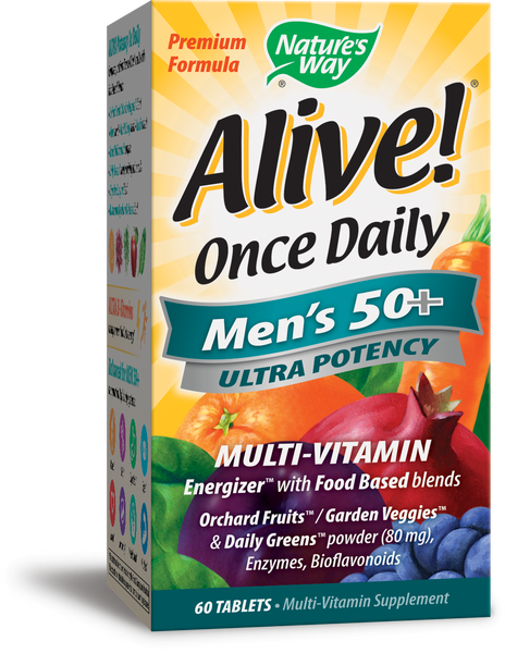 Alive! Once Daily Men's 50+ Ultra Potency Multivitamin