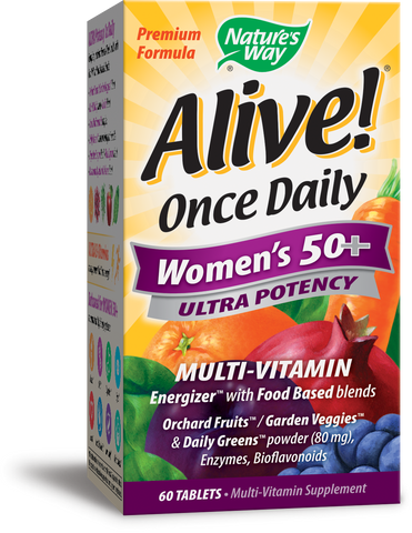 Alive! Once Daily Ultra Potency Multivitamin 50+ Women