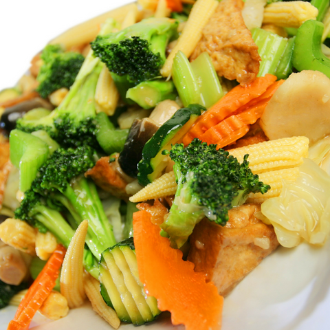 Mixed Vegetables w/ Prawns: Party Tray - Starting Medium Tray +