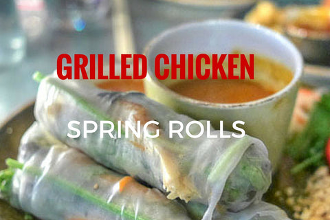 Grilled Chicken Spring Rolls (2 pieces)