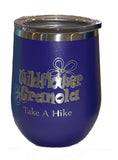 Wildflower Granola 12oz  Stainless Steel Wine Tumbler