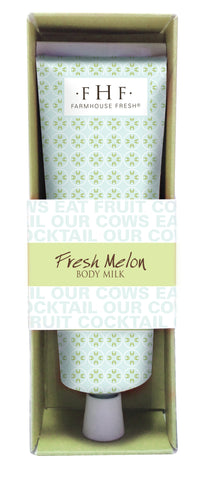 Farmhouse Fresh Body Milk Lotion - Fresh Melon Travel Tube 2.4 oz