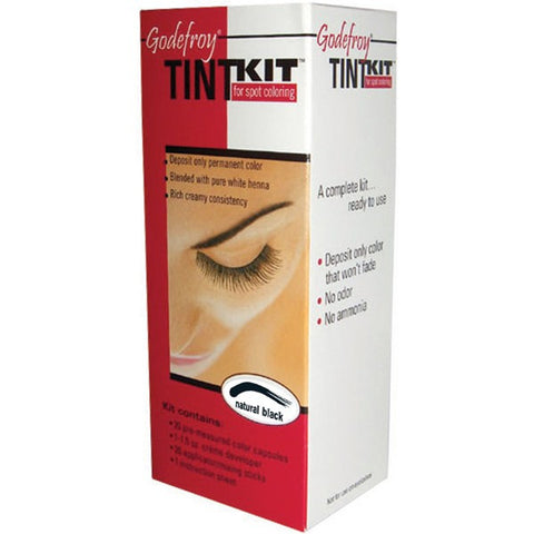 Godefroy Eyebrow Tint Light Brown Kit