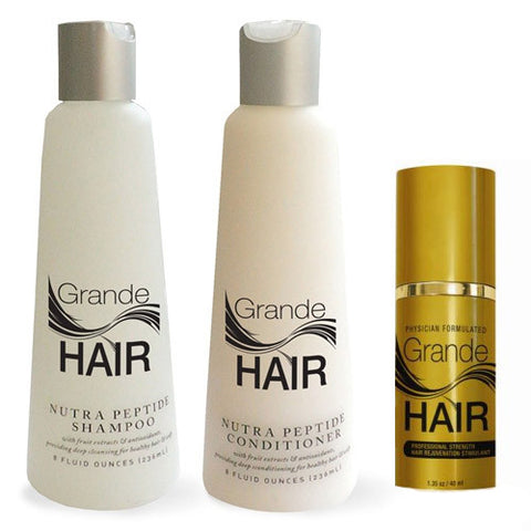 Grande Naturals GrandeHair Set - Serum, Shampoo & Conditioner