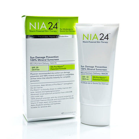 NIA24 Sun Damage Prevention 100% Mineral Sunscreen SPF 30