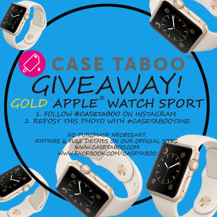 Case Taboo GIVEAWAY!  Win a brand new Gold Apple Watch Sport!