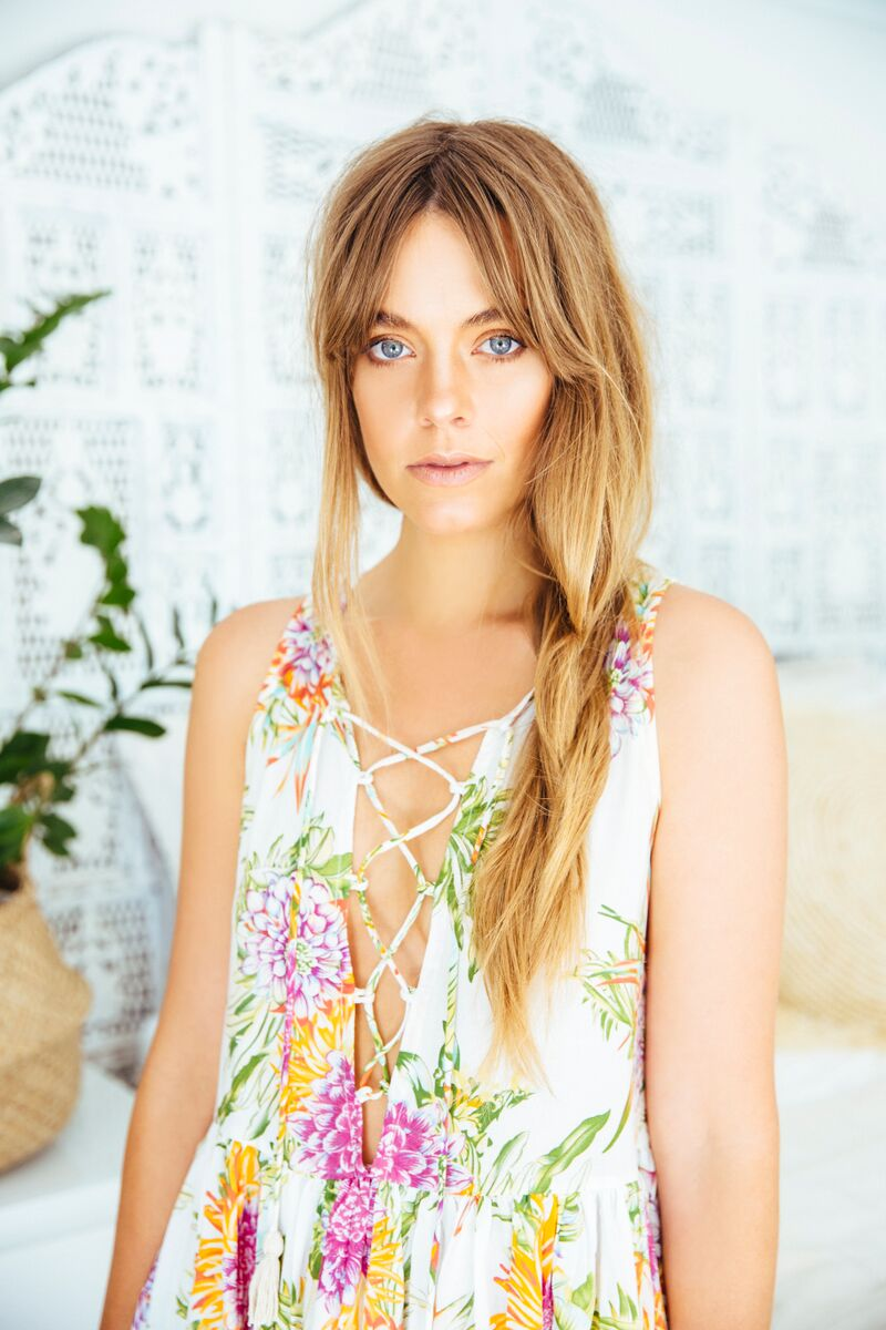 Sun Gypsy_Cabo Gypsy_Let It Bloom Dress_front close