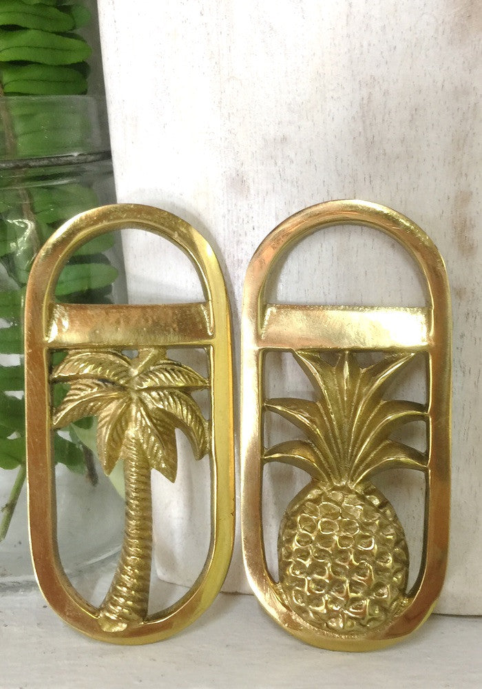 brass palm tree or pineapple opener