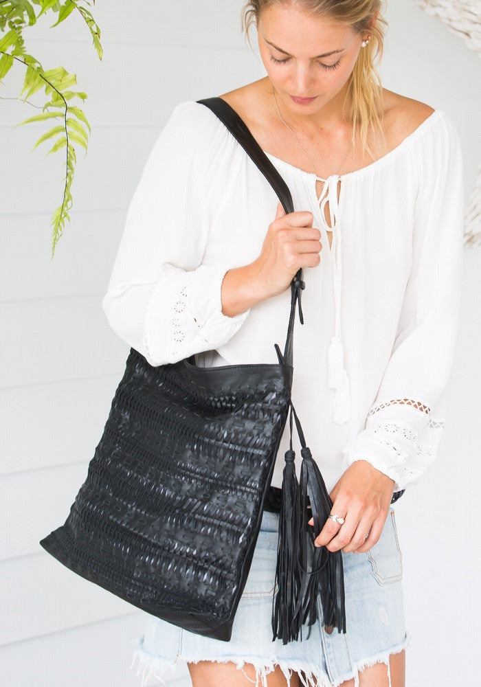 Cabo gypsy hobo oversized bag Black