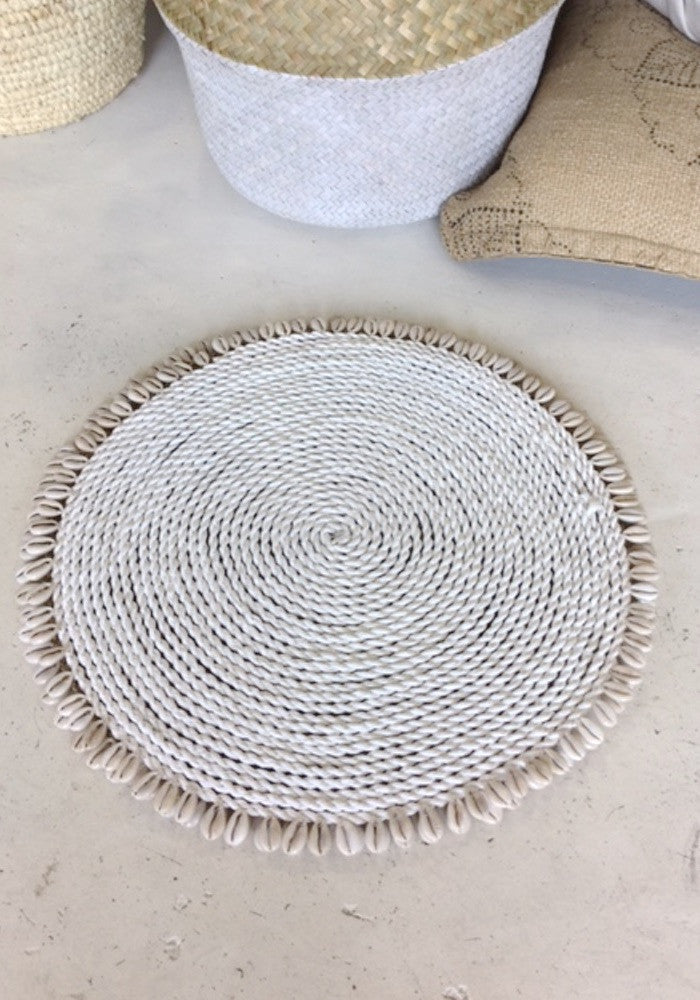 Shop Cabo Gypsy Home Decor Shell Placemat White Bohemian