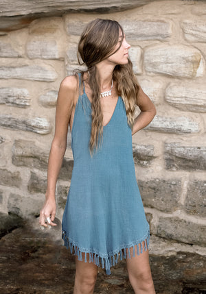 cabo gypsy sunchaser tri dress blue-1
