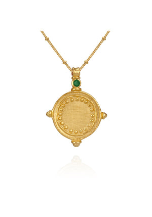 Temple of the Sun Sura Necklace - Gold