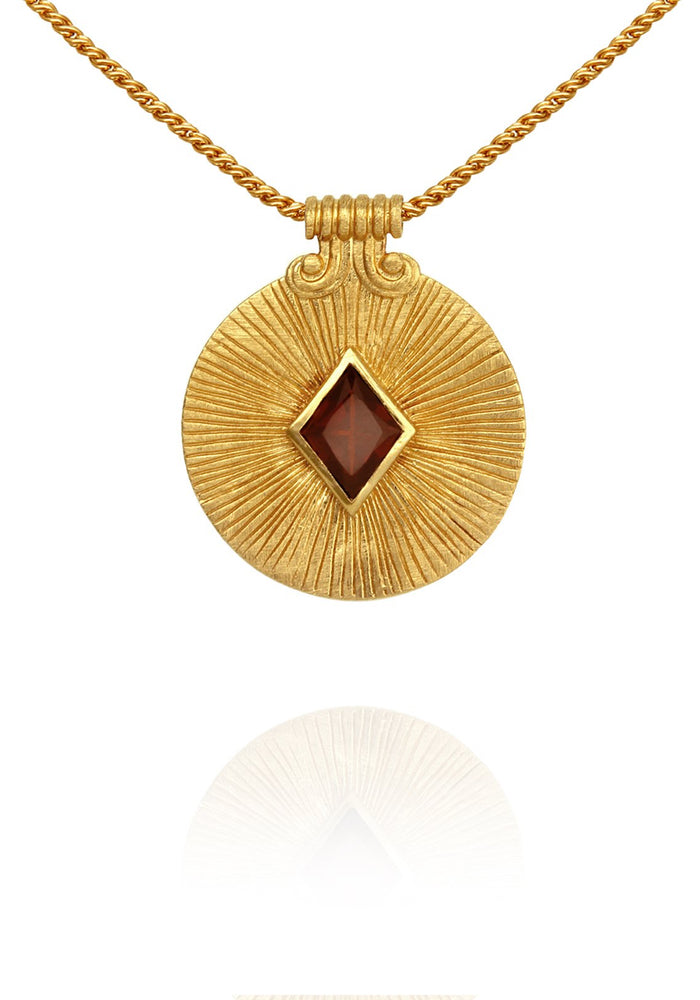 Temple of the sun sol necklace gold