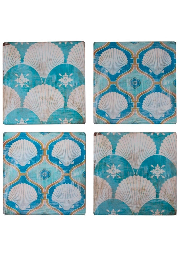Shell Vintage Coasters