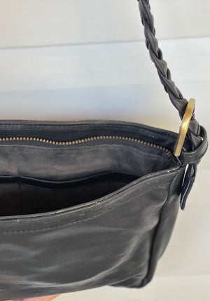 Evie Leather Bag - Black