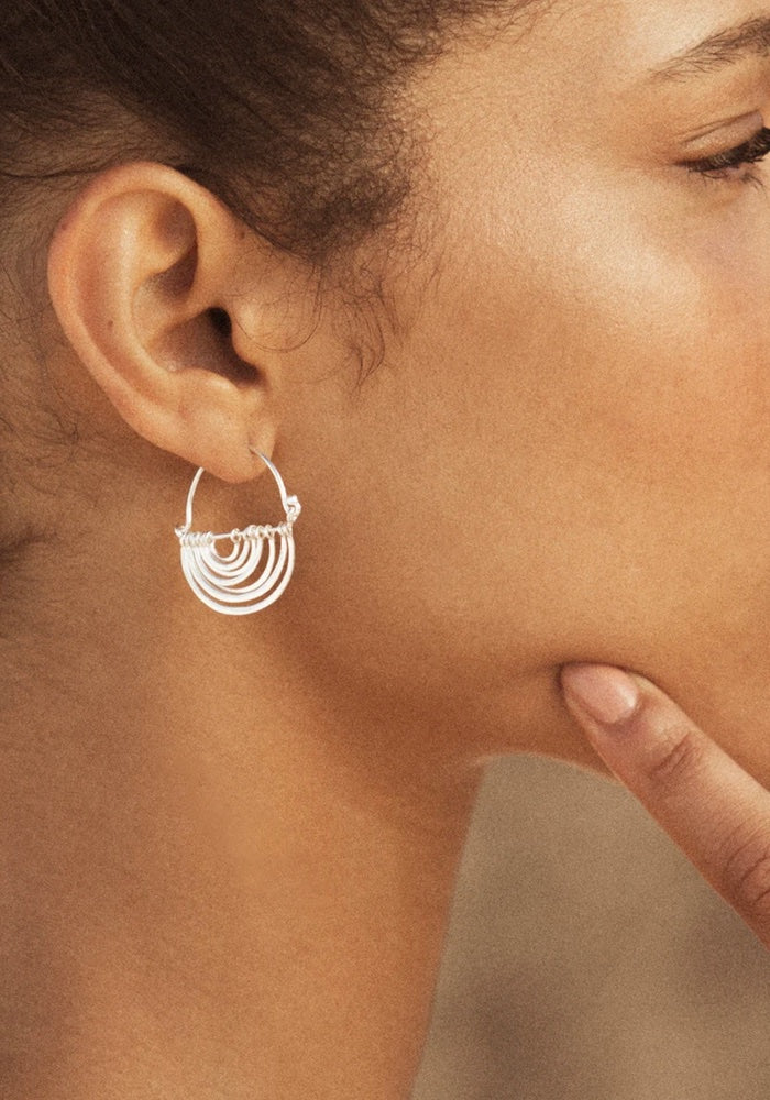 Baye Earrings - Silver