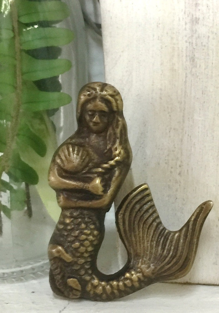 Mini Mermaid  brass door handles