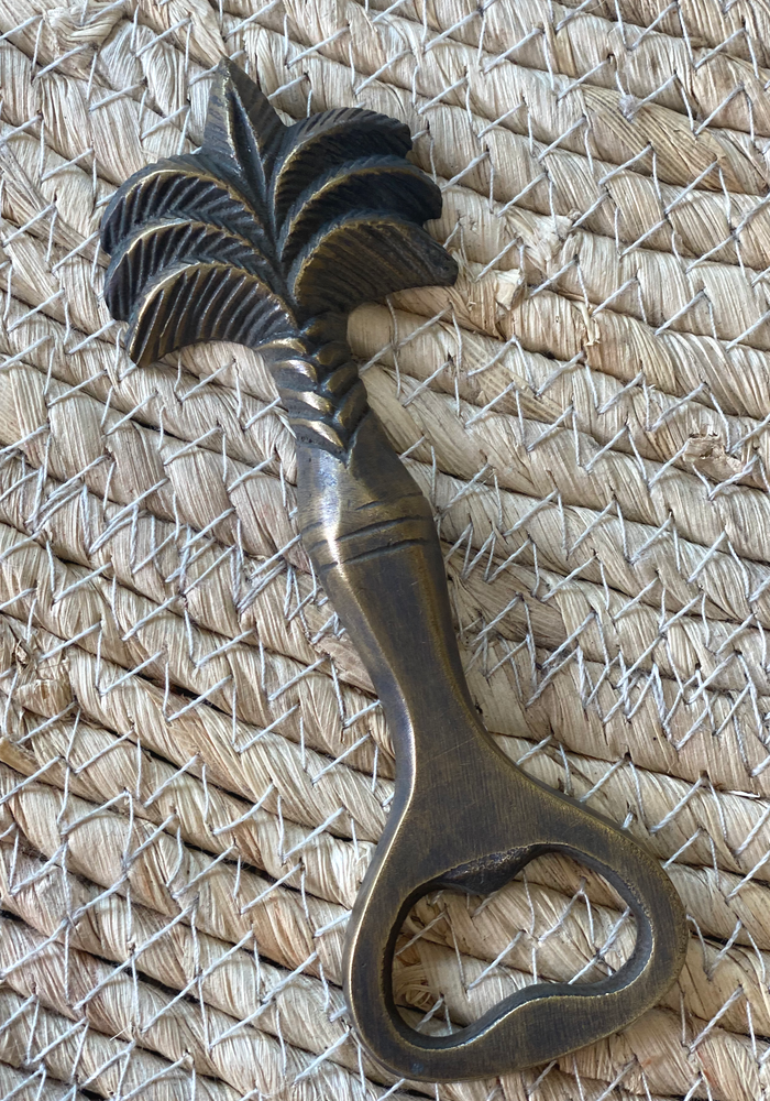 Palm Tree Brass Bottle Opener