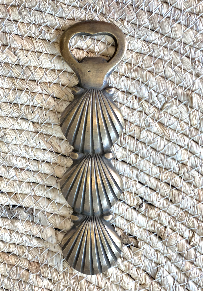 Shell Brass Bottle Opener