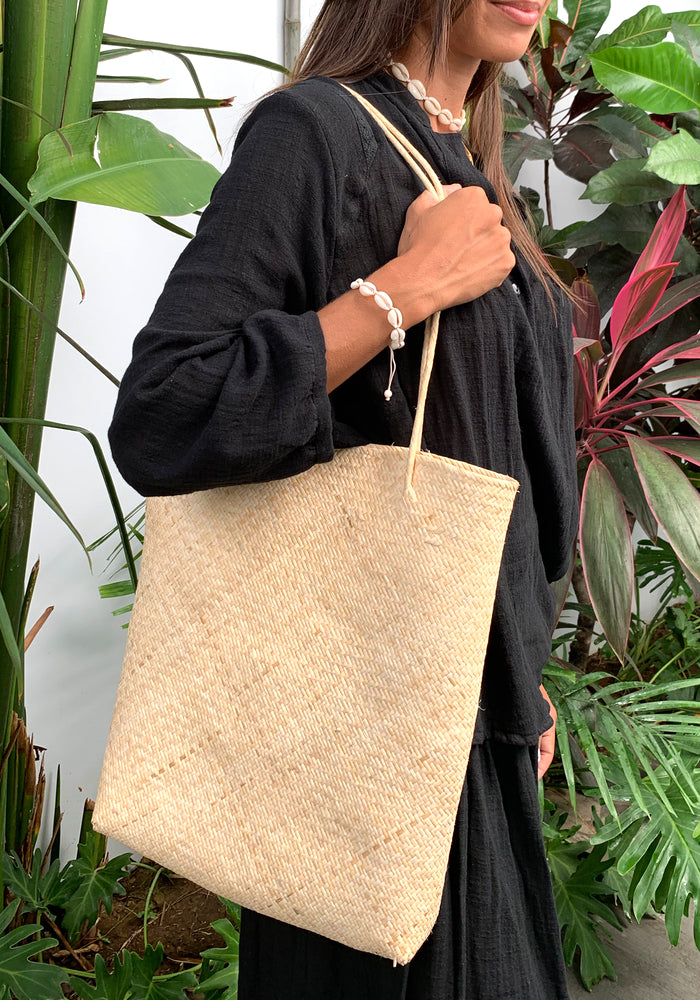 cabo gypsy hope straw tote bag
