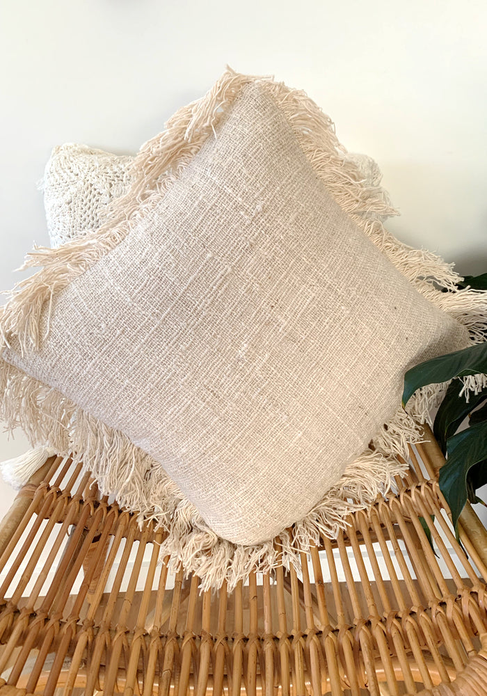 Kira Fringing Cotton Cushion Cover