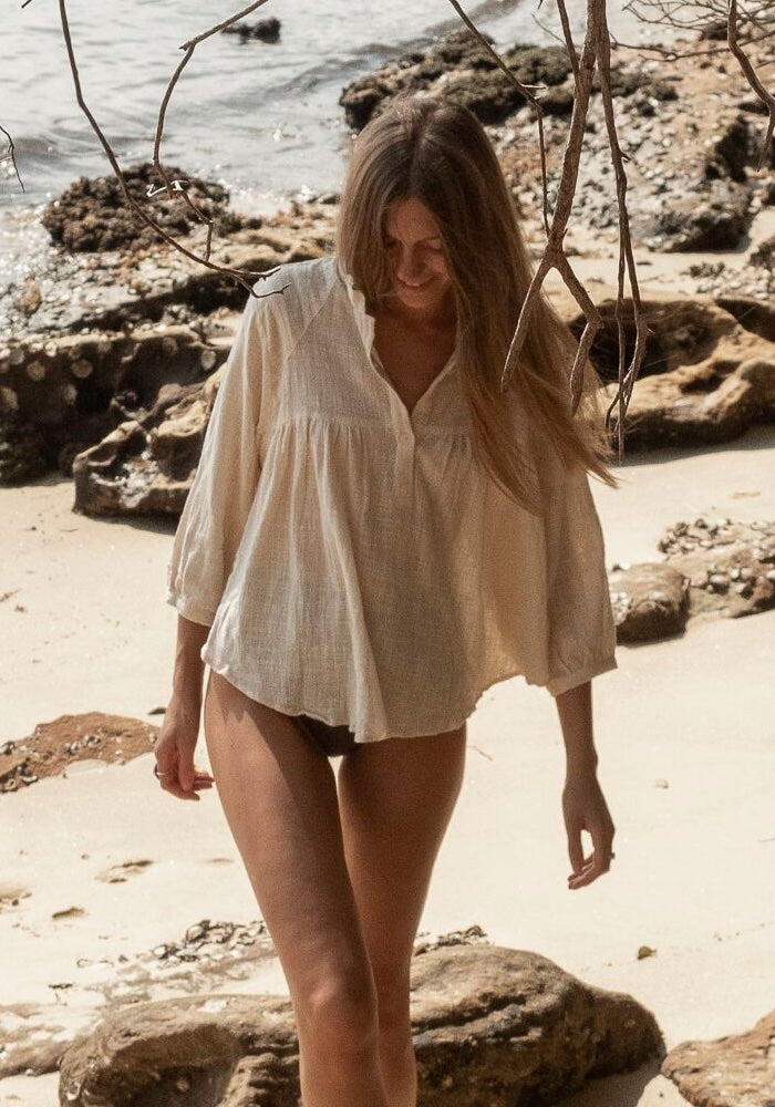 SHOP CABO GYPSY Solana Long Sleeve Blouse