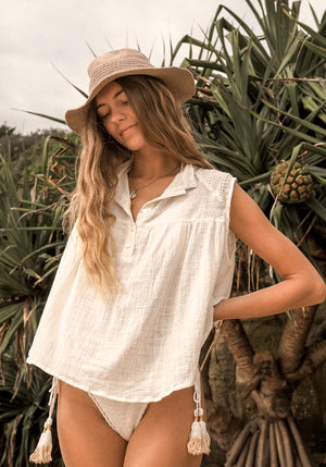 cabo gypsy solana white blouse