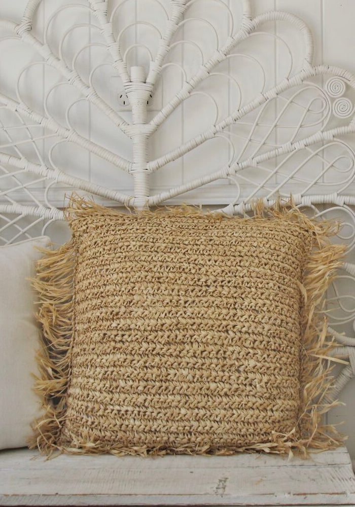 Straw Raffia Cushion