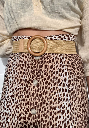 Cabo Gypsy Summerblossom Straw Belt