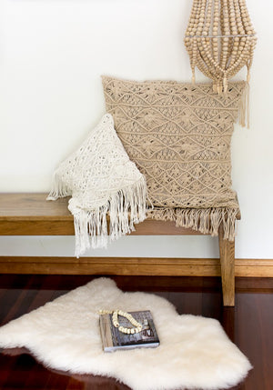 Cabo Gypsy tassel macrame cushion