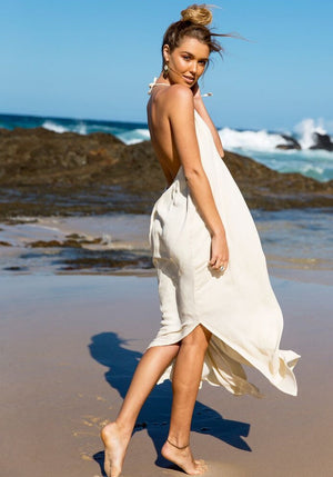 Cabo Gypsy Temple Backless Maxi Dress