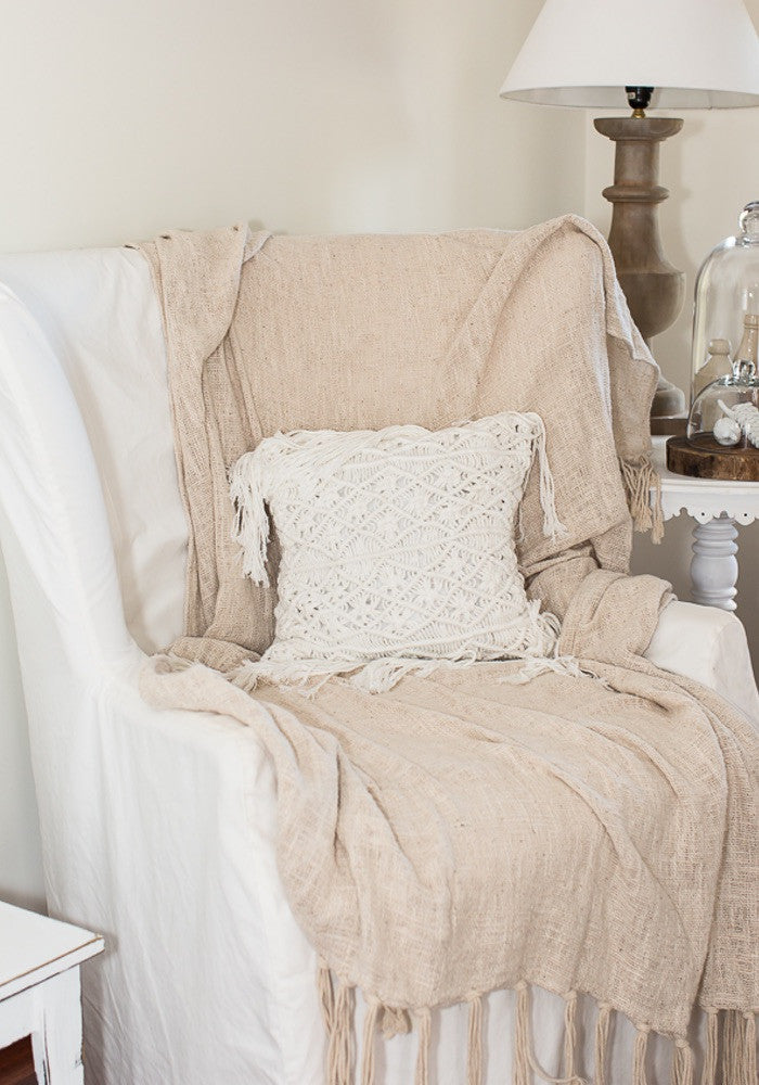 Cabo Gypsy linen bed throw