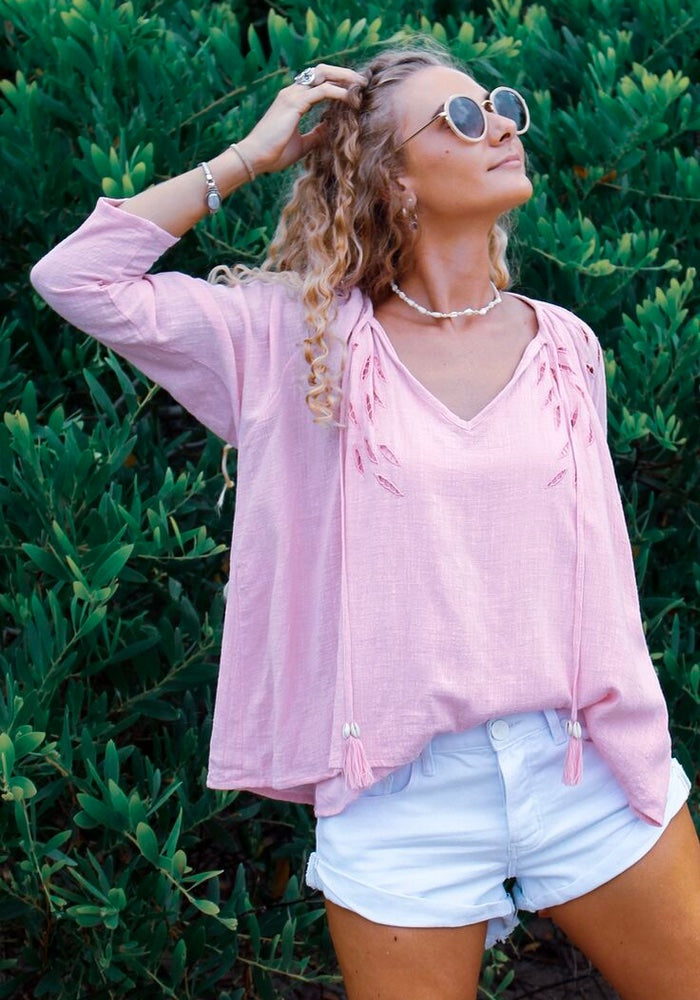 CABO GYPSY Drifter Blouse - Lilac