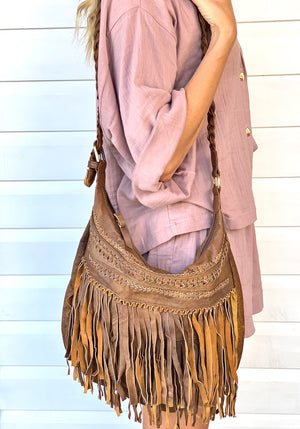 Jessie Slouch Bag - Distressed Tan
