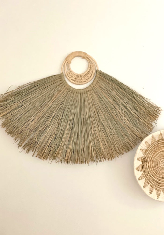 Leila Seagrass Wall Fan