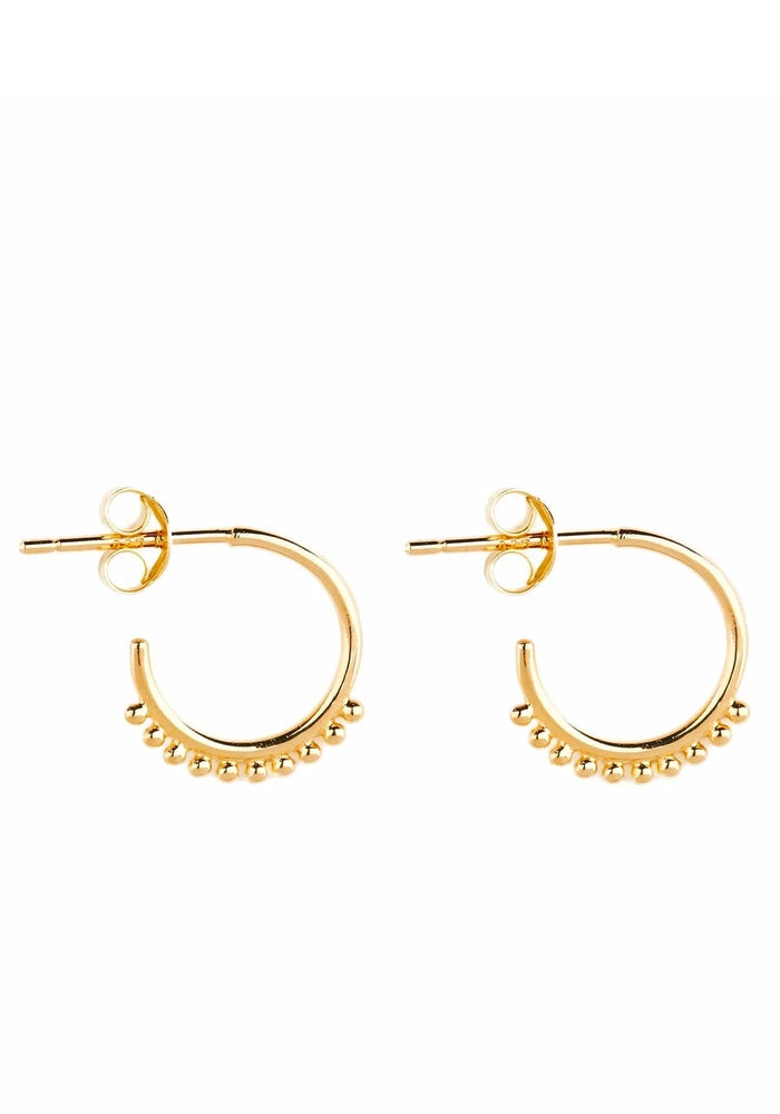 BY CHARLOTTE Cherish Hoop Earrings - Gold