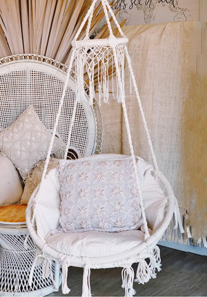 Deluxe Macrame  Round Hanging Chair