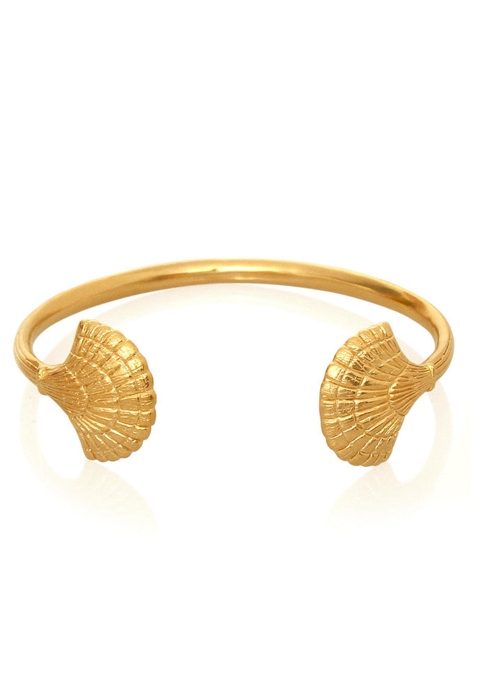 eleni shell gold cuff temple of the sun