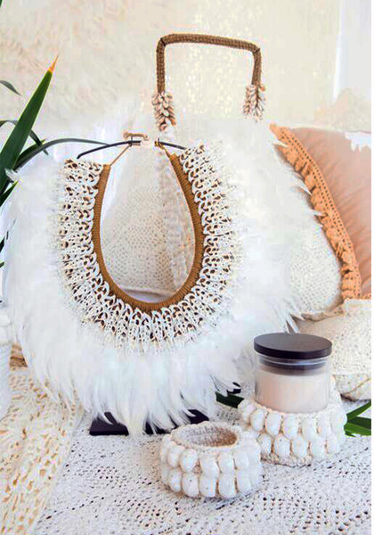 Tribal Feather Decorative Necklace White Bohemian Store